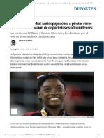 La Agencia Mundial Antidopaje acusa a piratas rusos de robar información de deportistas estadounidenses _ Deportes _ EL PAÍS.pdf