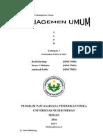makalah manajemen umum