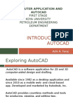 Introduction to Auto Cad