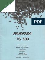 Farfisa Manual Ts 600