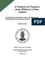 High Back Pressure PSV Flare System