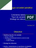 Curs 3 CB Metodologia Cercetarii 2015