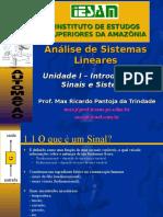 ASL Unidade I - Introducao Aos Sinais e Sistemas