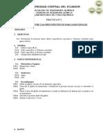 Cálculos del laboratorio fisicoquimica