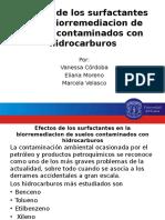 Efectos de Los Surfactantes en La Biorremediacion