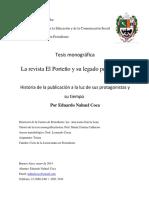 Tesis sobre revista El Porteño (Buenos Aires)