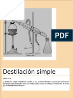 Destilación Simple