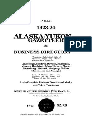 Alaska 1923 Place Directory | Alaska | Grizzly Bear