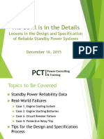 High Reliability Standby Power Systems