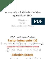 Técnicas de Solución de Modelos Que Utilizan EDO