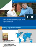 1403 MRO Storeroom Best Practices at Hershey