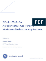 Ger 4250 Ge Lm2500 g4 Aero Gas Turbine Marine Industrial Applications