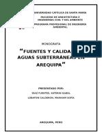 Fuentes y Calidad de Aguas Subterráneas en Arequipa