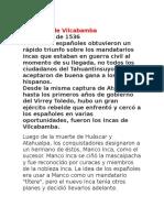 Los Incas de Vilcabamba