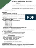 Bases del I Torneo de Ajedrez Abierto Categoria 07