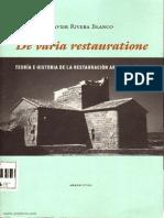 114. Teoría e Historia de La Restauración Arquitectónica - Javier Rivera Blanco