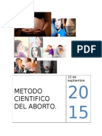 Metodo Cientifico Del Aborto. Biologia