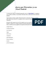 Los 10 Jugadores Que Florentino Ya No Quiere en El Real Madrid
