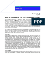 Health risks from the use of Laser pointers