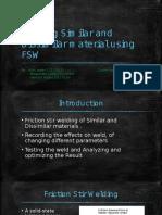 Presentation of FSW BTP 3233
