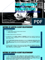 Establishment&TerminationOfLawyer ClientRelationship