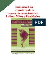 Los Barometros de La Democracia en America Latina.
