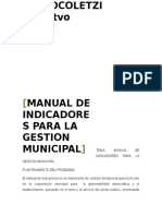 Manual de Indicadores Para La Gestion Municipal