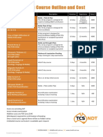 Tcs Ndt Course Outline Cost