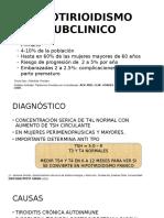 HIPOTIRIOIDISMO SUBCLINICO