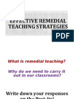 Effective Remedial Teaching Strategies in Reading and Writing