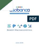 Boletín Macroeconómico(ECUADOR) - Julio 2016
