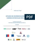 Estudios de Diversificacion de La Caden de Reciclaje Inclusiva- Movimiento de Recicladores de Chile