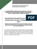 Lineamientos Gestion Escolar Sebs 2016-2017
