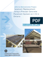 Pavement Repalcement Using Precast