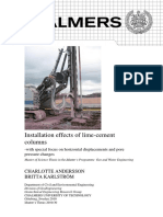 Installation Effects of Lime-cement Columns