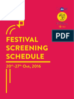 Mumbai Film Festival, 2016 - Screening Schedule