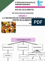 2.3 Obtención de Carbohidratos Puros a Partir de Alimentos 2