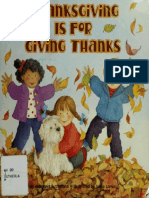 Thanksgiving is for Giving Thanks-Margaret Sutherland