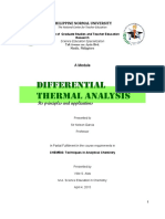 MODULE Differential Thermal Analysis