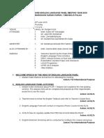 English Language Panel 3rd Mtg Minutes