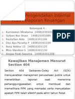 Auditing Pengendalian Internal Atas Pelaporan Keuangan