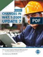 Norma CWB Cambios en W47.1-2009