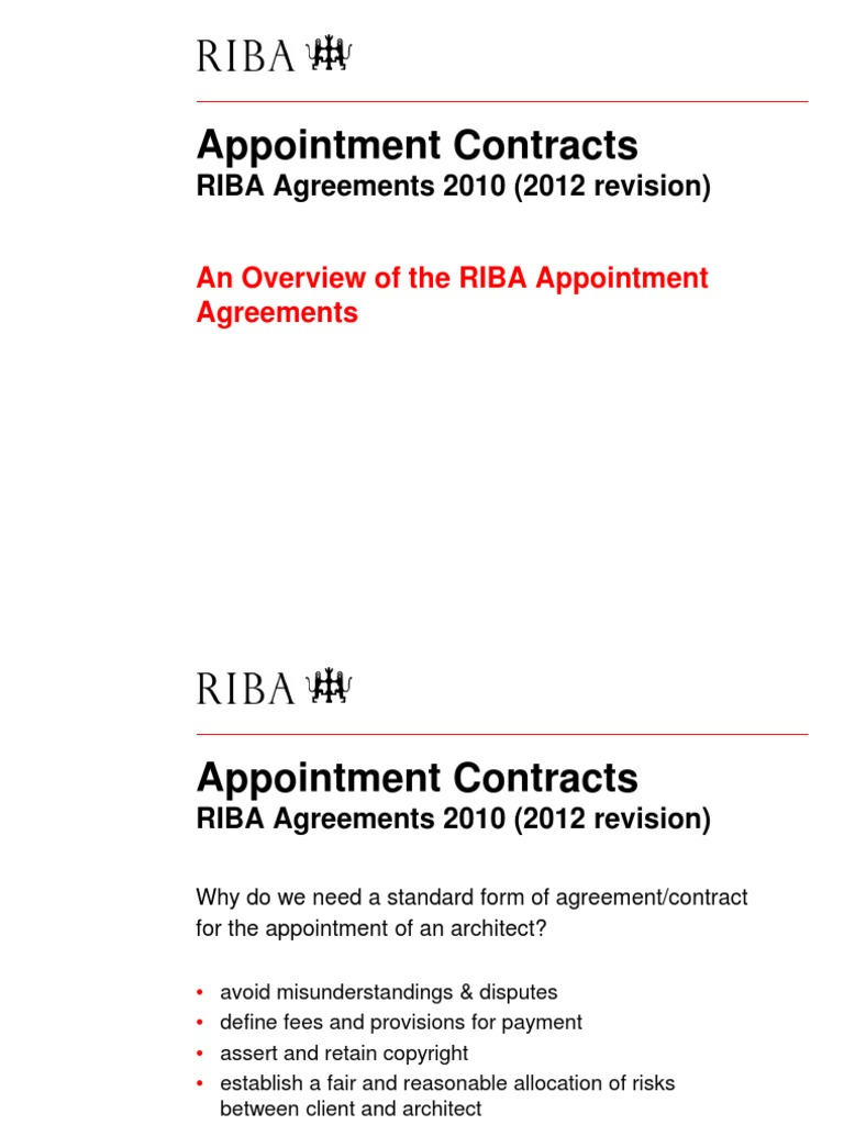 Ribaappointmentagreements20102012revision Adriandobsonpdf