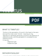 Tinnitus.