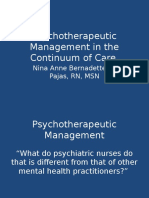 Psychotherapeutic Management in the Continuum of Care