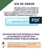 Inferencias de Proporciones Poblacionales