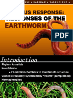 Nervous Responses of Earthworm