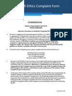 Ethics Complaint Form PMI
