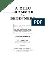 Zulu Grammar 1940