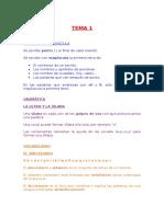 TEMA 1 - 5 lengua